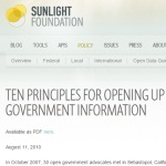 Ten Principles for Opening Up Government Information - Sunlight Foundation