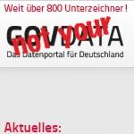 """not your GovData - Gemeinsame Erklärung zum """"Datenportal für Deutschland"""""""
