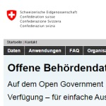 Open Data Pilotprojekt Schweiz